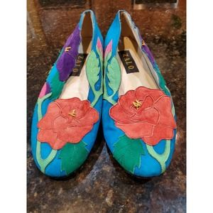 Zalo Womens Needlepoint Loafers Floral 7.5 US